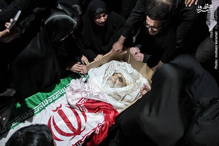 مراسم وداع سردار شهید حسین همدانی در معراج شهدای تهران