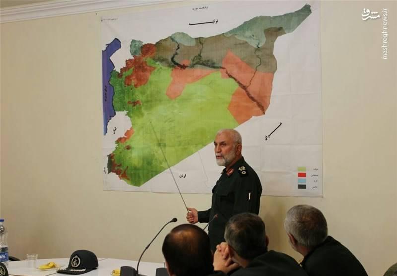 سردار حسین همدانی در جبهه سوریه