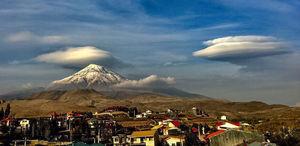 """نمایی دیدنی از  قله دماوند از دشت منظریه """"پلور"""""""
