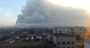 عکس/ انفجار انبار مهمات در اوکراین