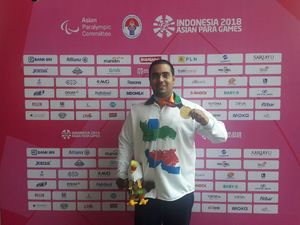 احمدی با رکوردشکنی یازدهمین طلای کاروان ایران را کسب کرد