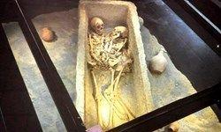 «اسکلت زوج اشکانی» جاذبهای در موزه هگمتانه + عکس