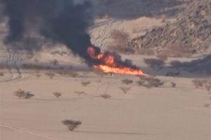 فیلم/ لحظه اصابت موشک یمنی به مواضع سعودی
