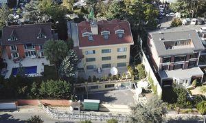 تصاویر هوایی از سفارت عربستان در ترکیه