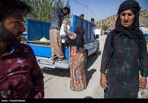 عکس/ توزیع سبد کالا در مناطق زلزله زده ثلاث باباجانی