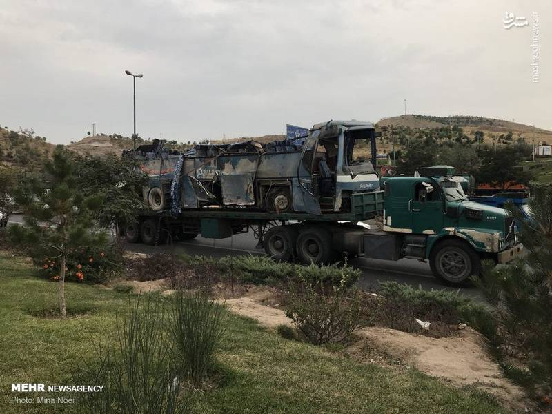 ۲ کشته در واژگونی اتوبوس دانش آموزان در تبریز
