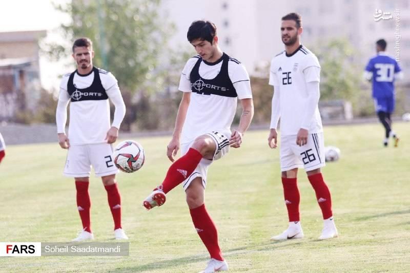 تمرین تیم ملی در روز شوخی بازیکنان با طارمی و سردار