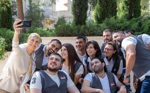 عکس/ دیدار همسر بشار اسد با جانبازان ارتش