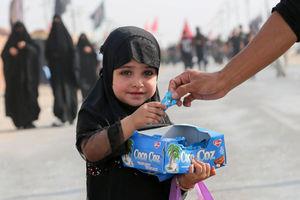فیلم/ آموزش کودکان عراقی برای پذیرایی از زوار اربعین