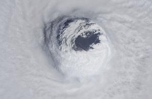 تصویر فضایی از طوفان سهمگین در آمریکا