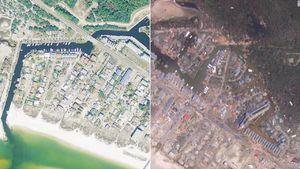 تصاویر قبل و بعد طوفان در فلوریدا