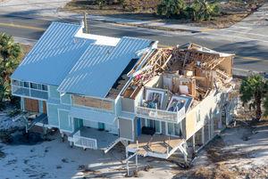 تصاویر هوایی از میزان خسارت طوفان در فلوریدا
