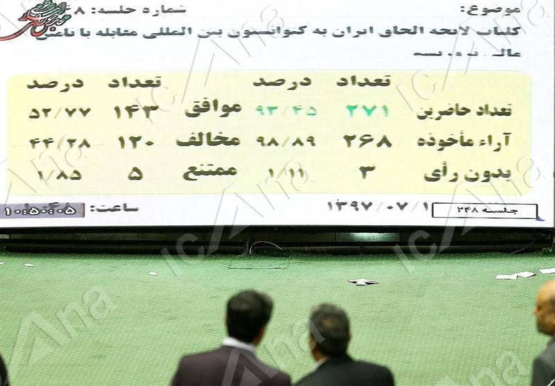 کدام نمایندگان به FATF رای مثبت دادند