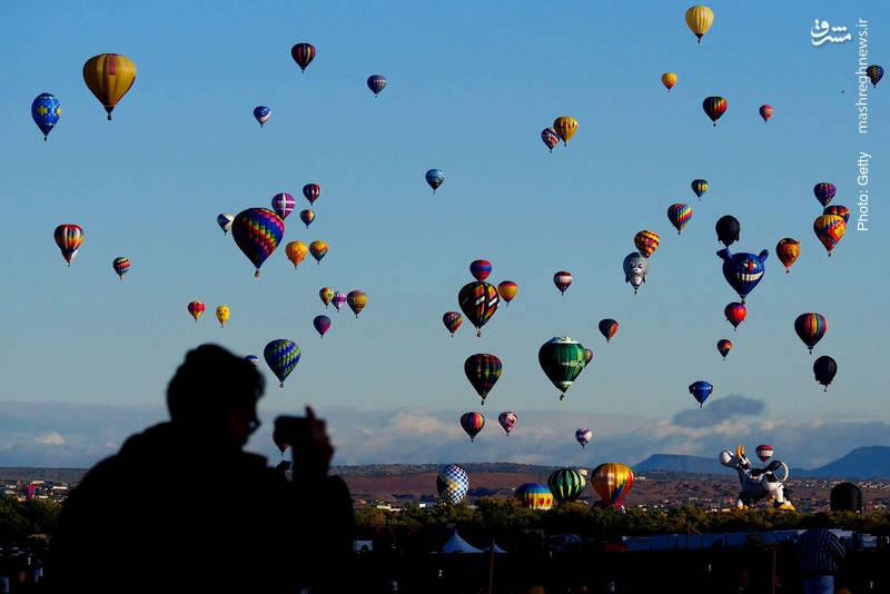 جشنواره بینالمللی بالونها در نیومکزیک