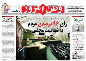 صفحه نخست روزنامههای یکشنبه ۲۲مهر
