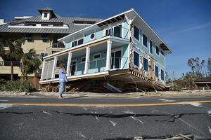 عکس/ خسارتهای سنگین طوفان مایکل در فلوریدا