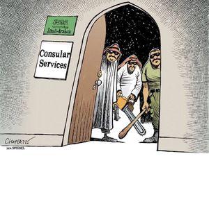 کاریکاتور/ چهره خبیث سعودی برای همه برملا شد