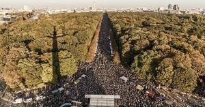 عکس/ تظاهرات بیش از 200هزار نفر علیه نژادپرستی