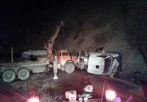 تصادف مرگبار تانکر حمل سوخت در سنندج