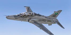 سقوط یک فروند هواپیمای نظامی سعودی