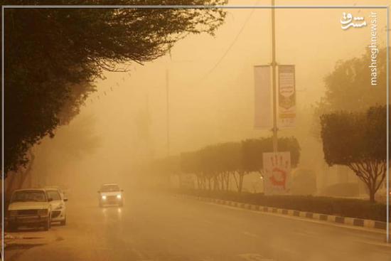 عکس/ محاصره در غبار!