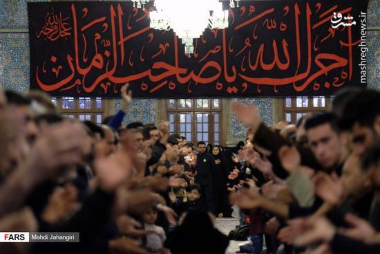 عکس/ عزاداری شهادت حضرت رقیه(س) در حرم رضوی