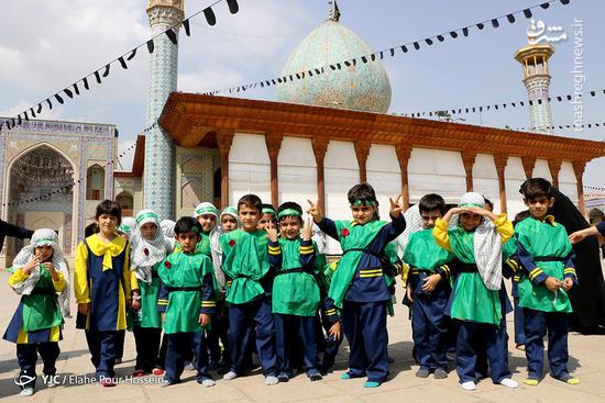 عکس/ همایش سه سالههای حسینی در شاهچراغ