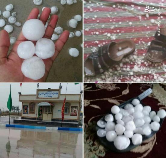 عکس/ بارش تگرگهای تخممرغی در بوشهر!