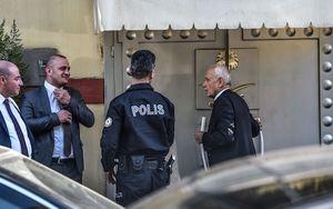 فیلم/ ورود تیم تحقیقاتی ترکیه به کنسولگری عربستان