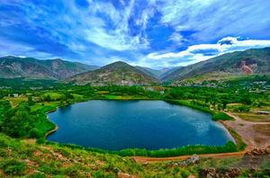 عکس/ دریاچهای زیبا در قزوین