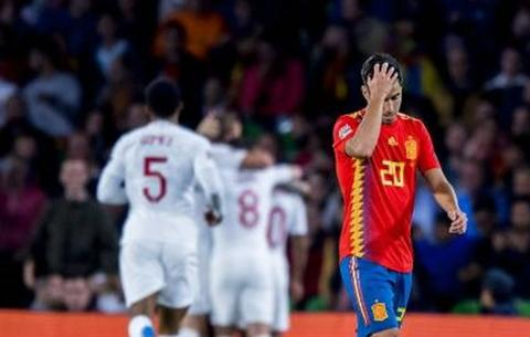 فیلم/ شکست اسپانیا مقابل انگلیس در بازی پرگل