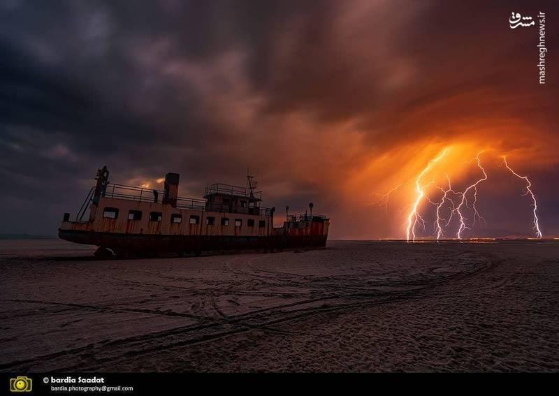 تصویری شگفتانگیز از دریاچه ارومیه