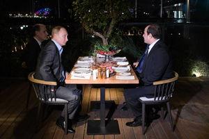دورهمی شبانه پوتین و رئیس جمهور مصر
