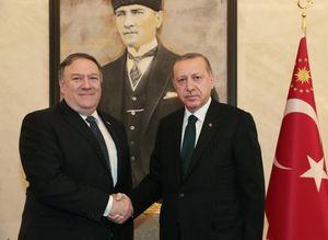 عکس/ دیدار پمپئو با اردوغان