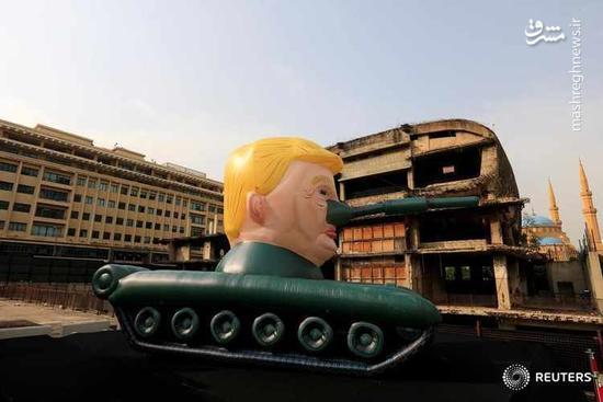 عکس/ تانک ترامپ در لبنان