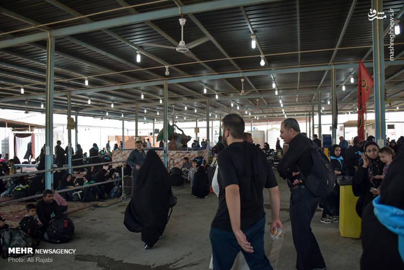 2366292 - صف عبور زائران اربعین از مرز شلمچه