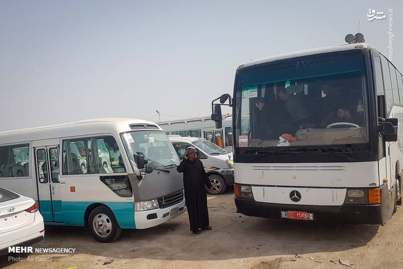 2366296 - صف عبور زائران اربعین از مرز شلمچه