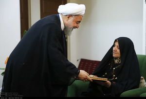 عکس/ دیدار روحانی با خانواده شهیدان ملاعباسی
