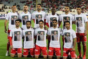 تصویر مادر بشار رسن روی پیراهن بازیکنان پرسپولیس +عکس