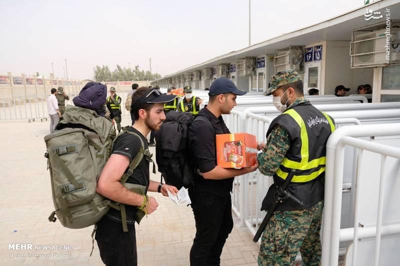 تردد زائران اربعین از پایانه مرزی مهران