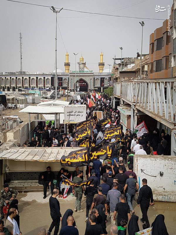تصاویری از دلدادگان حسینی در کربلای معلی