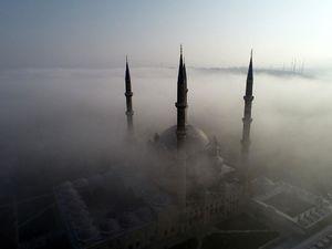 عکس/ مسجدی در میان  ابرها