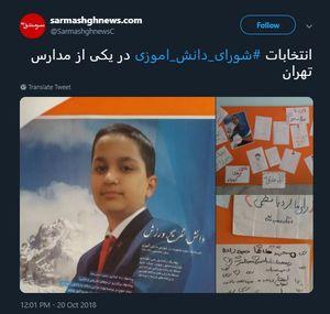 تبلیغات لاکچری در انتخابات شورای دانش آموزی +عکس