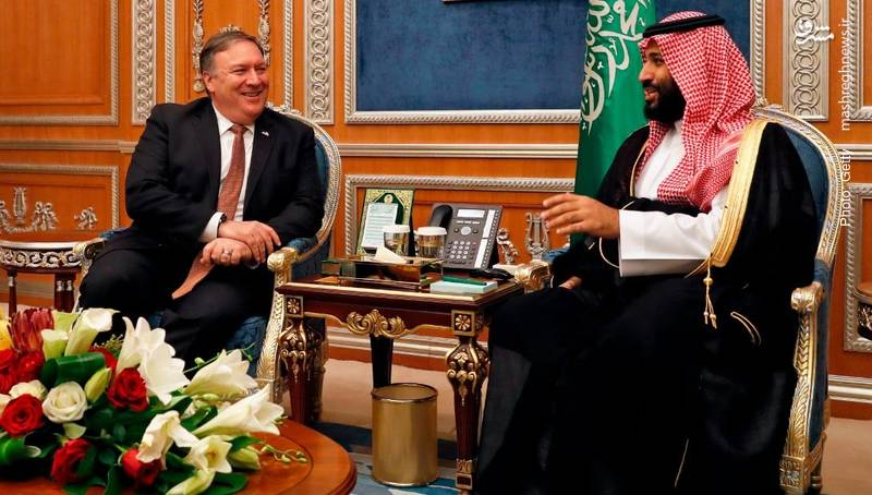 بگوبخند ولیعهد عربستان و مایک پمپئو، وزیر خارجه آمریکا در مورد قتل خاشقچی در کنسولگری سعودی
