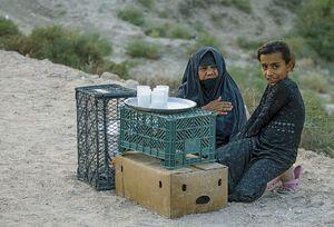 عکس/ ایستگاه صلواتی یک مادر و دختر