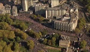 عکس/ تظاهرات گسترده مخالفان برکسیت در بریتانیا