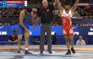 فیلم/ پیروزی قاطعانه کریمی برابر قهرمان المپیک