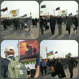 عبور زائران کشور #آذربایجان #اربعین حسینی به مقصد کربلا از مرز شلمچه
