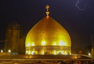 عکس/ رعد و برق در آسمان نجف