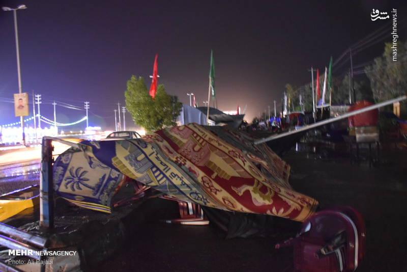 خسارات طوفان در دیوانیه عراق